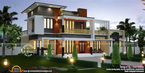 2075 sq ft modern contemporary house kerala home design