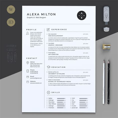 Pages Cv Template by 2 Pages Resume By Estartshop On Creativemarket Resume