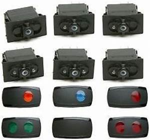Painless Wiring Lighted Contour Rocker Switch Kit Set Of 6 With Covers Pw80425