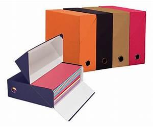 Boite De Classement Carton : bo te de classement en carton couleurs assorties dos 9 cm adine maxiburo ~ Teatrodelosmanantiales.com Idées de Décoration