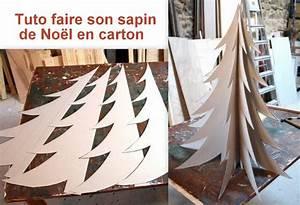 Fabriquer Un Sapin De Noel En Carton : faire un sapin de no l en carton des tutos ~ Nature-et-papiers.com Idées de Décoration