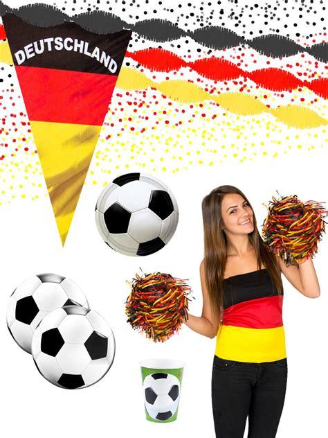 Beim public viewing, verwendet werden kann, bieten wir außerdem für die sicherheit. Deutschland Mega Fussballparty Deko-Set 44-teilig schwarz ...