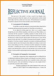 reflective journal entry example