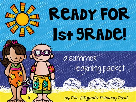 Part One Summer Learning Activities For Rising First Graders (and Summer Homework For