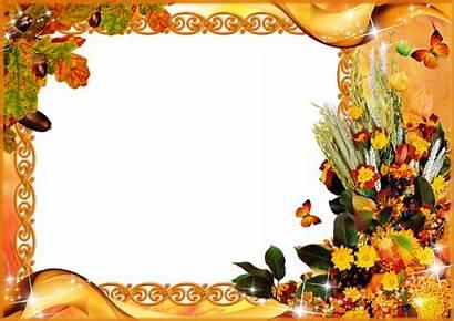 Frames Clipart Autumn Transparent Toamna Thanksgiving Frame