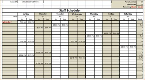 work schedule templates teknoswitch