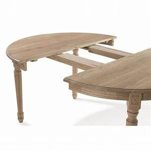Table A Manger Ronde Rallonge Galerie Avec Table Ronde Extensible Bois Chaane Clair Photo