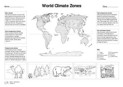 world climate zones for kids worksheets google search