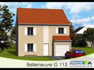 Plan de maison r1 bbc rt2012 garage integre groupe for Plan maison avec appartement