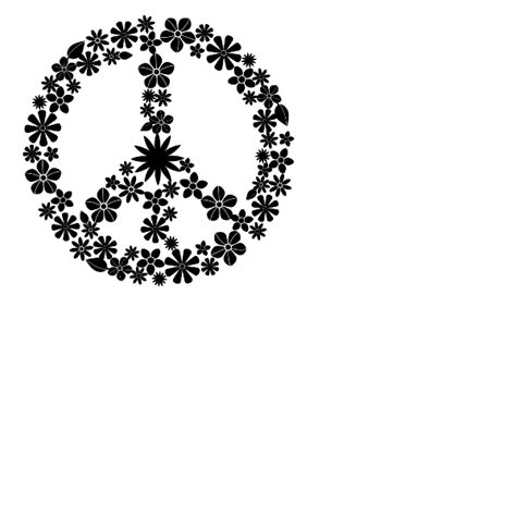 flower peace sign wall decal peace sign wall sticker