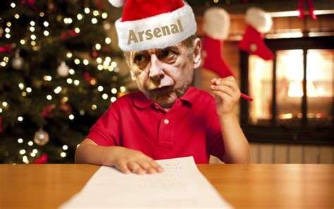 arsenal fans christmas wish list top eight players