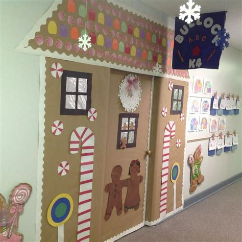 decorating an elementary school for christmas winter door decorating idea for an elementary school classroom gingerbread house door