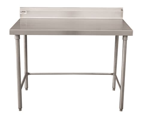 """Stainless Steel Table With Backsplash : Stainless Steel Tables With """"5 Inch Return Backsplash"""