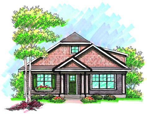 craftsman  rear load garage ah architectural designs house plans
