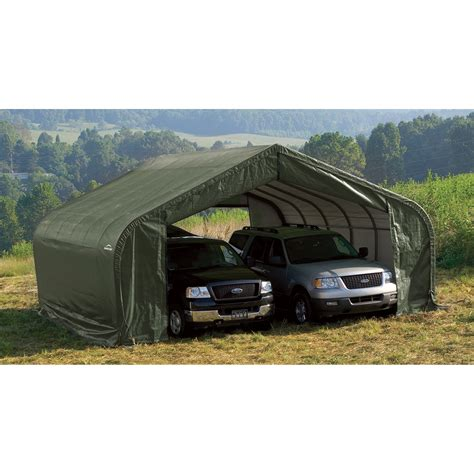 Shelterlogic Peak Style Double Wide Garagestorage Shelter