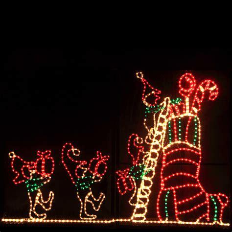 outdoor decoration led animated elf  stocking