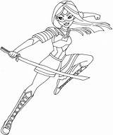 Coloring Squad Suicide Pages Katana sketch template