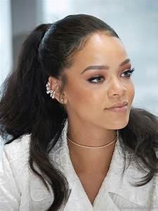 Rihanna Ponytail Hairstyles Fade Haircut