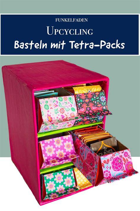 upcycling diy anleitung regal aus tetra packs und