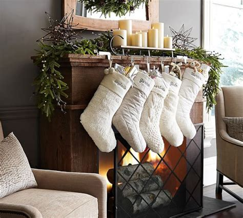 Mantle Sleigh Stocking Holder   Pottery Barn