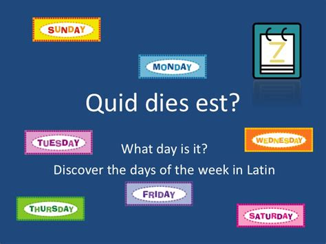 days   week  latin