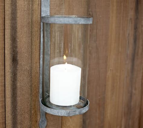 Candle Sconce Pottery Barn by Galvinized Metal Candle Sconce Pottery Barn