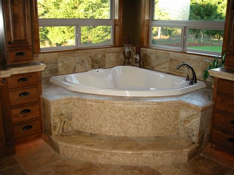 travertine tub surround home construction remodel