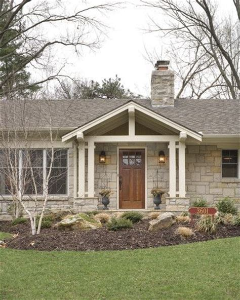 break up a boring rectangle ranch house roof line for curb appeal curb appeal pinterest