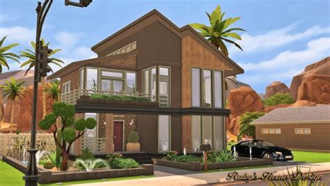 Ruby's Home Design :  Modern Industrial Home • Sims 4 Downloads