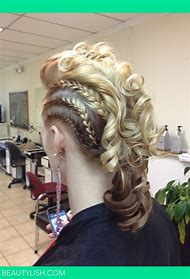 Curly Braided Mohawk Hairstyles