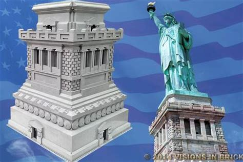 statue of liberty pedestal visions in brick statue of liberty pedestal