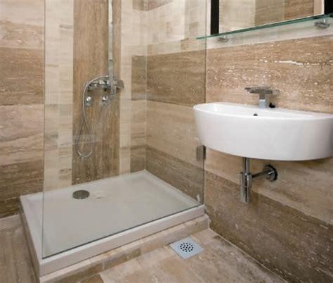 Outstanding Travertine Tile Bathroom — Berg San Decor