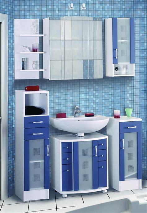 Badmöbel Maritim Blau kompl badm 246 bel badezimmer blau weiss 6tlg set farbwahl ebay