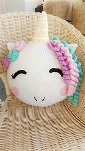 Einhorn Kissen Nähen : einhorn kissen unicorn crochet crochet unicorn ~ A.2002-acura-tl-radio.info Haus und Dekorationen