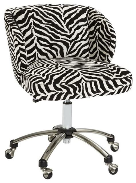 zebra wingback desk chair eclectic office chairs by