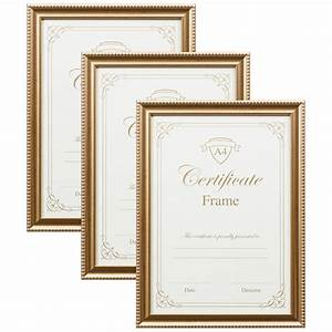 a4 certificate frame 3pk gold photo frames frames With a4 document frame