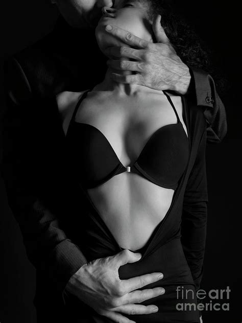 Beautiful Sensual Portrait Of A Couple Black And White