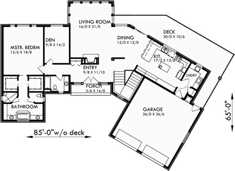 house plans with daylight basement ranch house plans daylight basement house plans sloping lot
