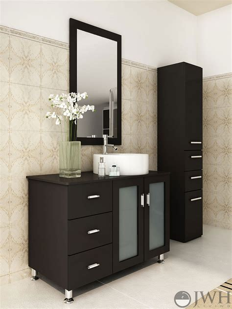 single vanity 39 quot lune single bathroom vanity espresso bathgems