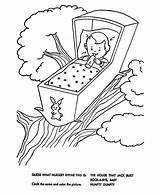 Nursery Rhymes Coloring Bye Rock Quiz Rhyme Sheets Bluebonkers Mother Goose sketch template