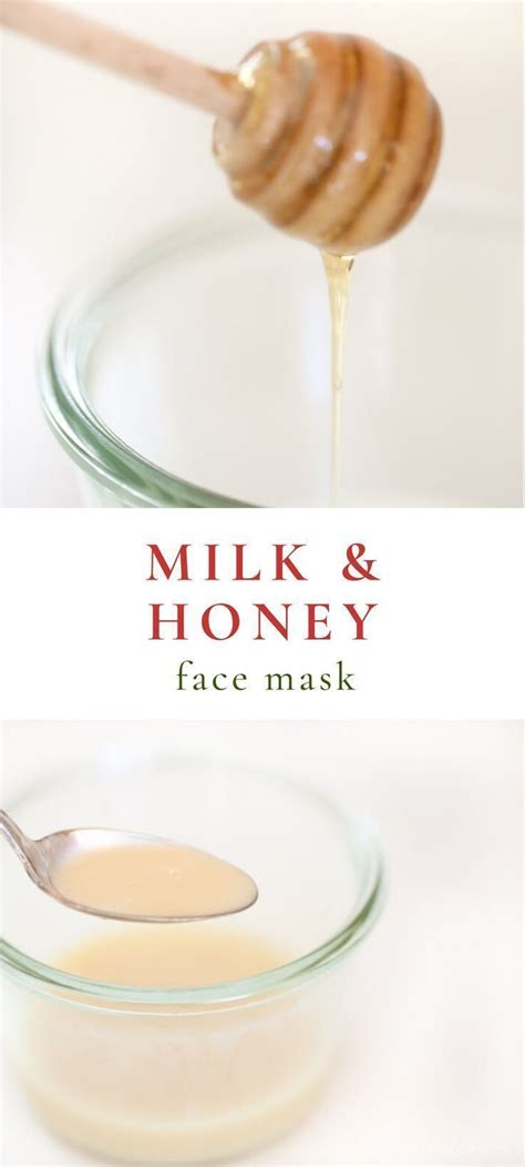 Skin appears smoother and more toned. Milk and Honey Homemade Face Mask Recipe in 2020 ...
