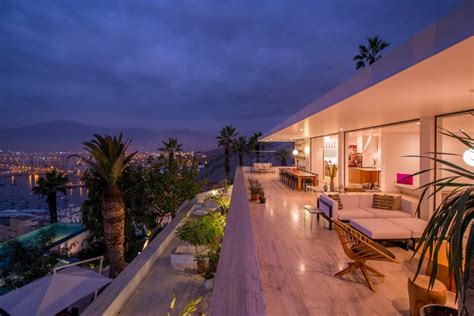 hillside home remodel overlooking  ocean  lima peru