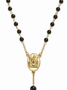 Dolce & gabbana Gold and Black Onyx Rosary Necklace in ...