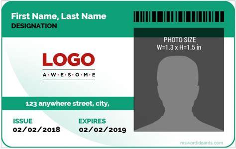 create id card template 5 best corporate professional id card templates