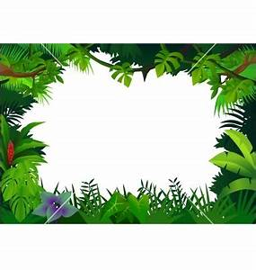 Free Printable Clip Art Borders | Jungle frame vector ...