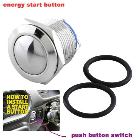 12v Push Button Switch Start Momentary Car Ignition Engine