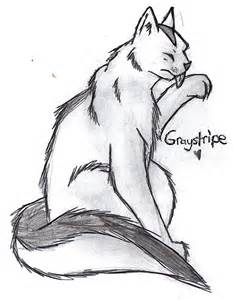 warrior cat drawings warrior cats graystripe by patchfeather on deviantart