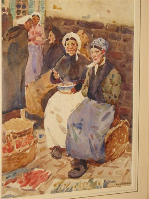 original watercolour  dame laura knight ra rws british   watercolours