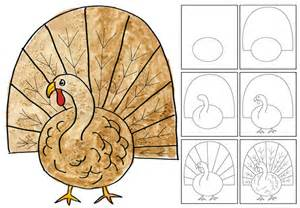 rumriver center projects for homeschoolers animal drawing turkey
