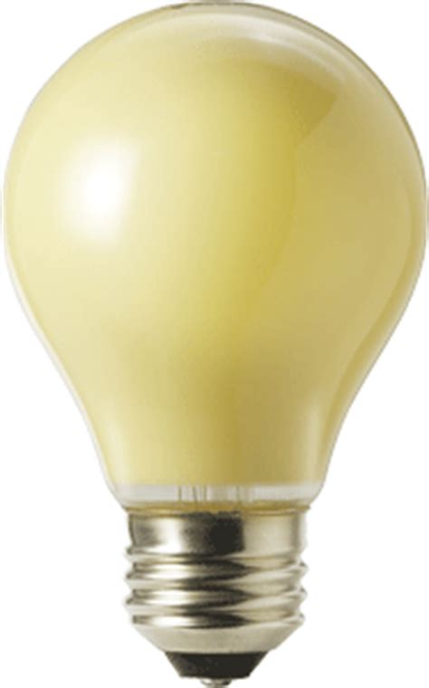 40 watt generic outdoor bug repelling incandescent light bulb